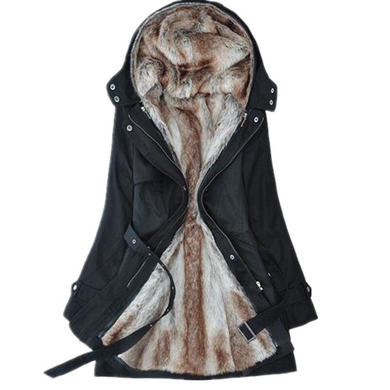 ФОТО 2017 women's wool coat winter liner trench overcoat medium-long slim fur jacket overcoat cashmere coat women Free shipping