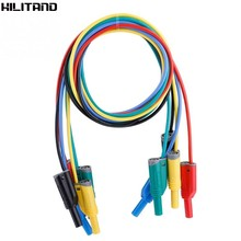 5 Pcs 1000V 10A 14AWG 4 MM Pisang Kabel Safety Lembut Silikon Kawat Kabel Kit untuk Multimeter(China)