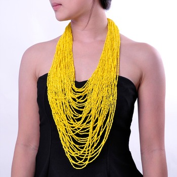 19 Colors 42 Layers Resin Beads Cluster Big Statement Necklace