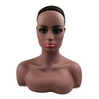 HARMONY 1 шт Реалистичная половина тела двойное плечо ПВХ обучение головы манекена для манекен для париков украшения на голову 2 цвета доступны