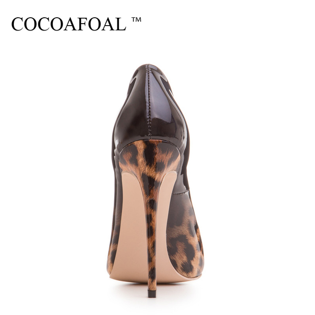 COCOAFOAL Woman Leopard Pumps Plus Size 33 - 43 Fashion Sexy Stiletto Party Wedding Pumps Autumn 12 CM Ultra High Heels Shoes 1