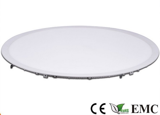 2017 New LED recessed panel 400MM panel light 28W Ultra slim built-in Round led downlight SMD2835 led lamp AC85-265V 5pcs/lot large illumination area ul panel light 4 x1 1200x300mm hanging recessed wall surface mounting no gare soft flat light
