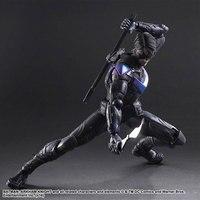 Play Arts DC Dick Grayson Batman Arkham Knight No.6 Nightwing Figure Toy Model 25cm