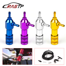 RASTP - Universal Car Modified Turbo Boost Controller Turbo Pressure Turbo Regulating Control Valve With LOGO RS-BOV017 rastp exhaust control valve set with vacuum actuator cutout 3 0 76mm pipe close style with wireless remote controller rs bov041