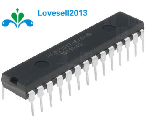 1PCS MCP23017-E/SP DIP-28 MCP23017 16-Bit I/O Expander With I2C Interface IC 100% New Origin