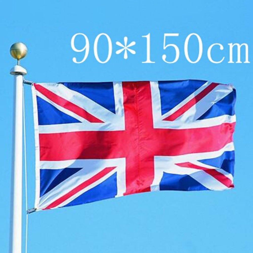 United Kingdom National Flag Hjemmeinnredning Union Jack UK Britisk Flagg England Country Flags Banner