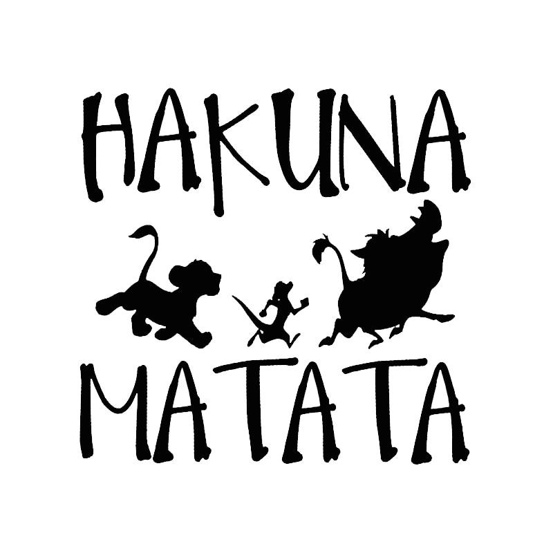 13.8cm13.3cm HAKUNA MATATA Lion King Simba Car-Styling Vinyl Car Sticker (2)
