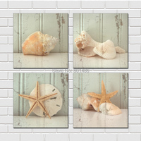 Seashell print Wall Art painting on canvas Perfect love gift for Anniversary,Wedding,Birthday and Holidays. Drop shipping