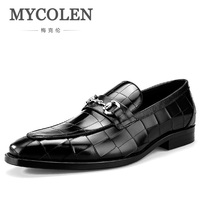 Mycolen Новое поступление Для мужчин повседневная обувь мужские лоферы классический образец крокодил модная удобная обувь без шнуровки erkek