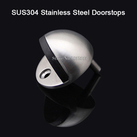 High Quality 304 Stainless Steel Door Stop Catch Stopper Stopper Home Office Guard Floor Round K180