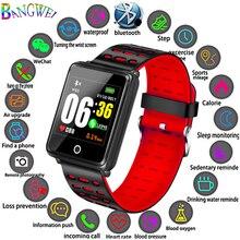 BANGWEI новые умные часы для мужчин для женщин сердечного ритма мониторы приборы для измерения артериального давления фитнес трекер Smartwatch спортивные часы для ios android + коробка