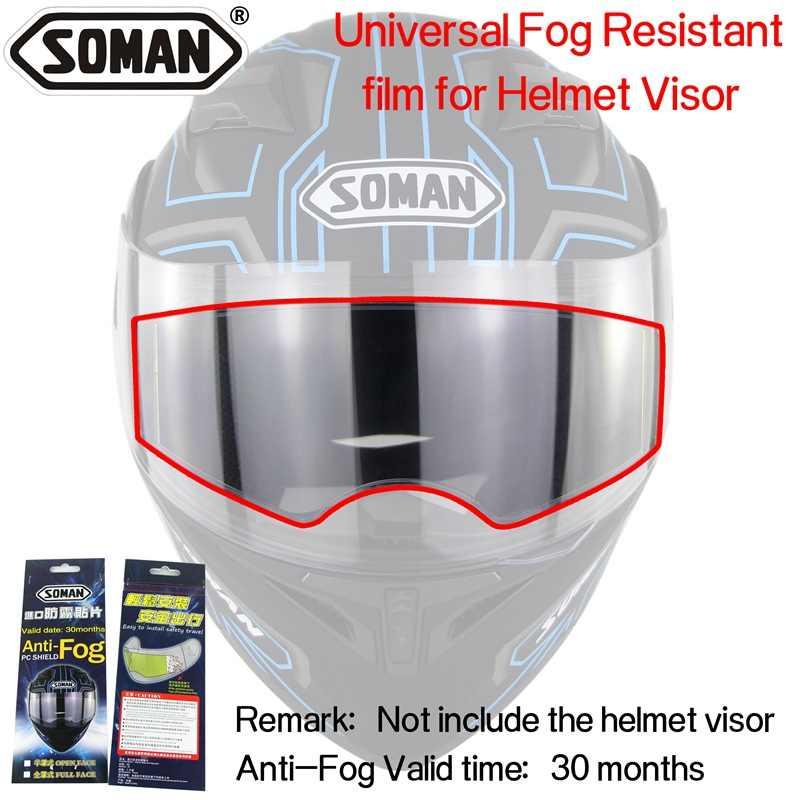 bfed75df ... Anti-Fog Helmet Lens film universal for the Motorcycle Helmet visor Fog  Resistant films Soman ...
