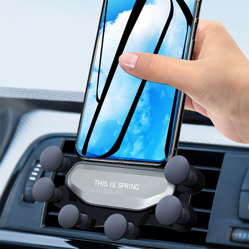 Car Phone Holder For iPhone X XS Max 7 8Plus For Samsung Huawei Car Air Vent Mount Holder Gravity Mobile Phone Holder Navigation in Phone Holders Stands from Cellphones Telecommunications