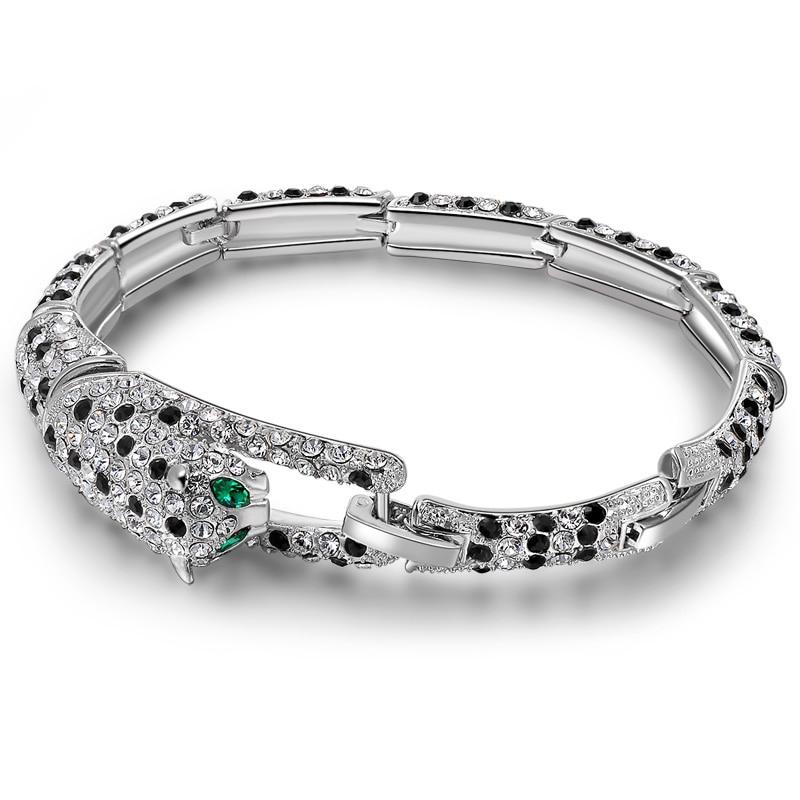 leopard bracelet bangle women rock jewelry austrian. Black Bedroom Furniture Sets. Home Design Ideas