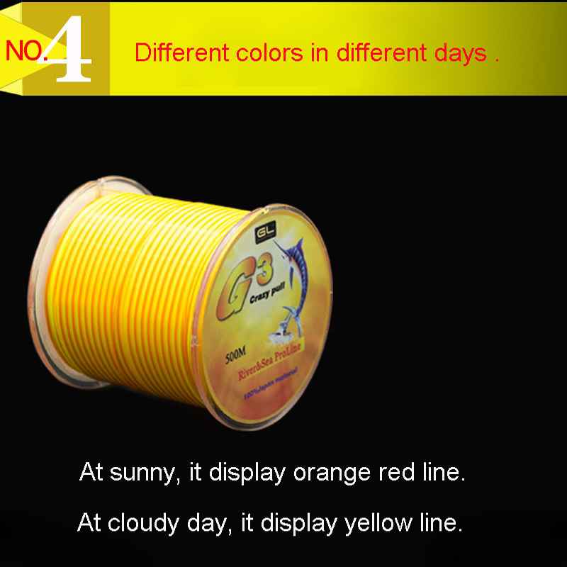500M Nylon Fishing Line Dual Color Monofilament Nylon Line 0 2mm 0 50mm High Strength Rock Fishing Line in Fishing Lines from Sports Entertainment