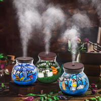 Diffuser Ultrasonic Aroma Humidifier 5V USB 500ml Bottle Creative Plant Essential Oils For Aromatherapy Diffuser For