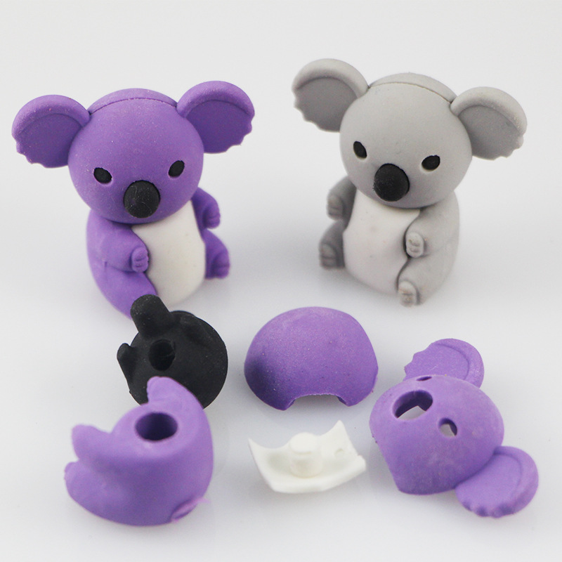 Coloffice Kawaii 5pcs/lot Koala Eraser Animal Modeling Erasers Creative Korea Stationery Student Gifts Small Prizes For Children