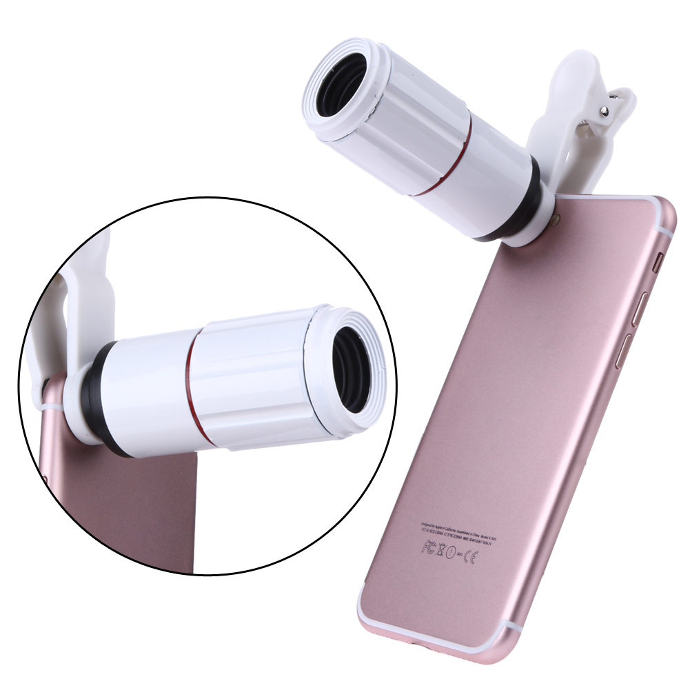 ALLOYSEED Universal 8X Zoom Telescope Telephoto Camera Lens Mobile Phone Lens with Clip for iPhone Samsung Huawei Smarts Phones 8