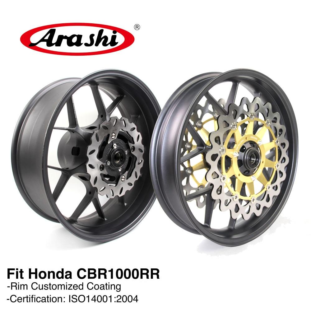 Arashi CBR1000RR 2008-2016 Front Rear Wheel Rim Brake Disc Rotors For HONDA CBR1000 CBR 1000 RR 08 09 10 11-16 1Set Gold Black rear brake disc for honda cbr1000rr sp 2014 2015 cbr 1000 rr sp motorcycle brake disk brake rotors 1000rr