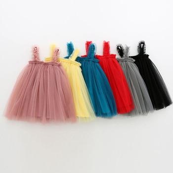 1-6T Kids Dress For Girls 2020 New Fashion Girl Party Childrens Lovely Baby Tutu Sleeveless Wedding