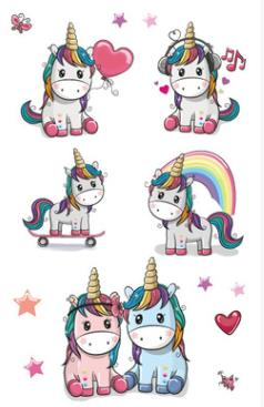 Waterproof Temporary Tatoo Sticker Kids Fake Tattoo Unicorn Rainbow Star Tatouage Stickers Flash Tatto Tattoos Tato For Children