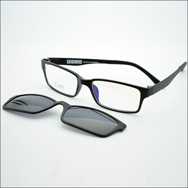 Ультра-светильник, вольфрам, титан, оправа для очков, 3D магнит, зажим, солнцезащитные очки, близорукость, функциональные очки, поляризационные, JKK 79 - Цвет оправы: Black