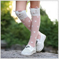 2016 Pink hearts cotton cartoon To keep warm girls straight socks children stereo ear leg warmers baby socks for 2-13 year