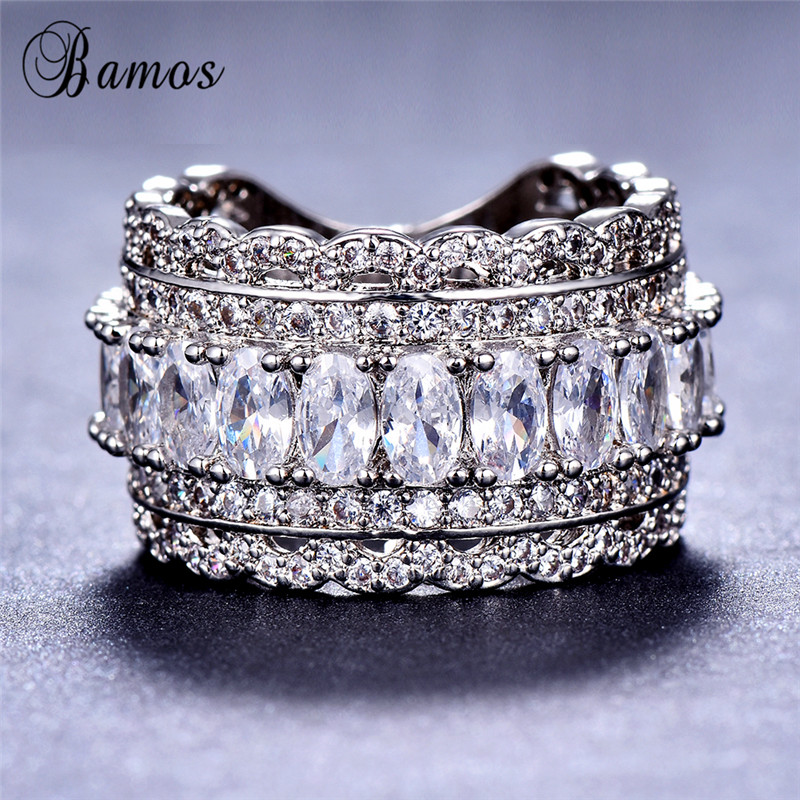 925 Silver Filled Jewelry Party Vintage Punk Ring For Men /& Women Ring Size 6-10