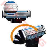 24 PCS Men S Regal Blades Cartridges For Gillette Mach 3 Generic Replacement Safety Shaving Razor
