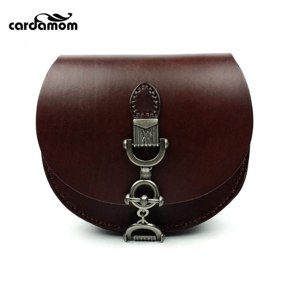 Фотография Cardamom Genuine Leather New Retro Plant Tannery Ladies Shoulder Messenger Bags Fashion Sling Bags for Women Crossbody Bag