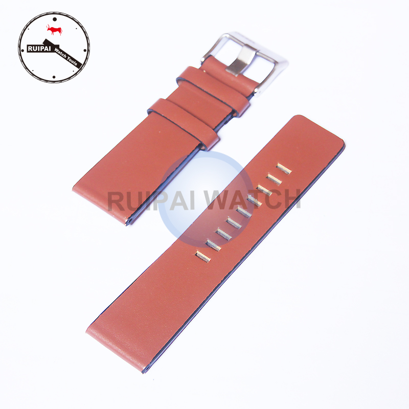 Genuine Leather Watch Strap Brown 24mm 26mm 28mm watchband strap Replacement for DIESEL Watches