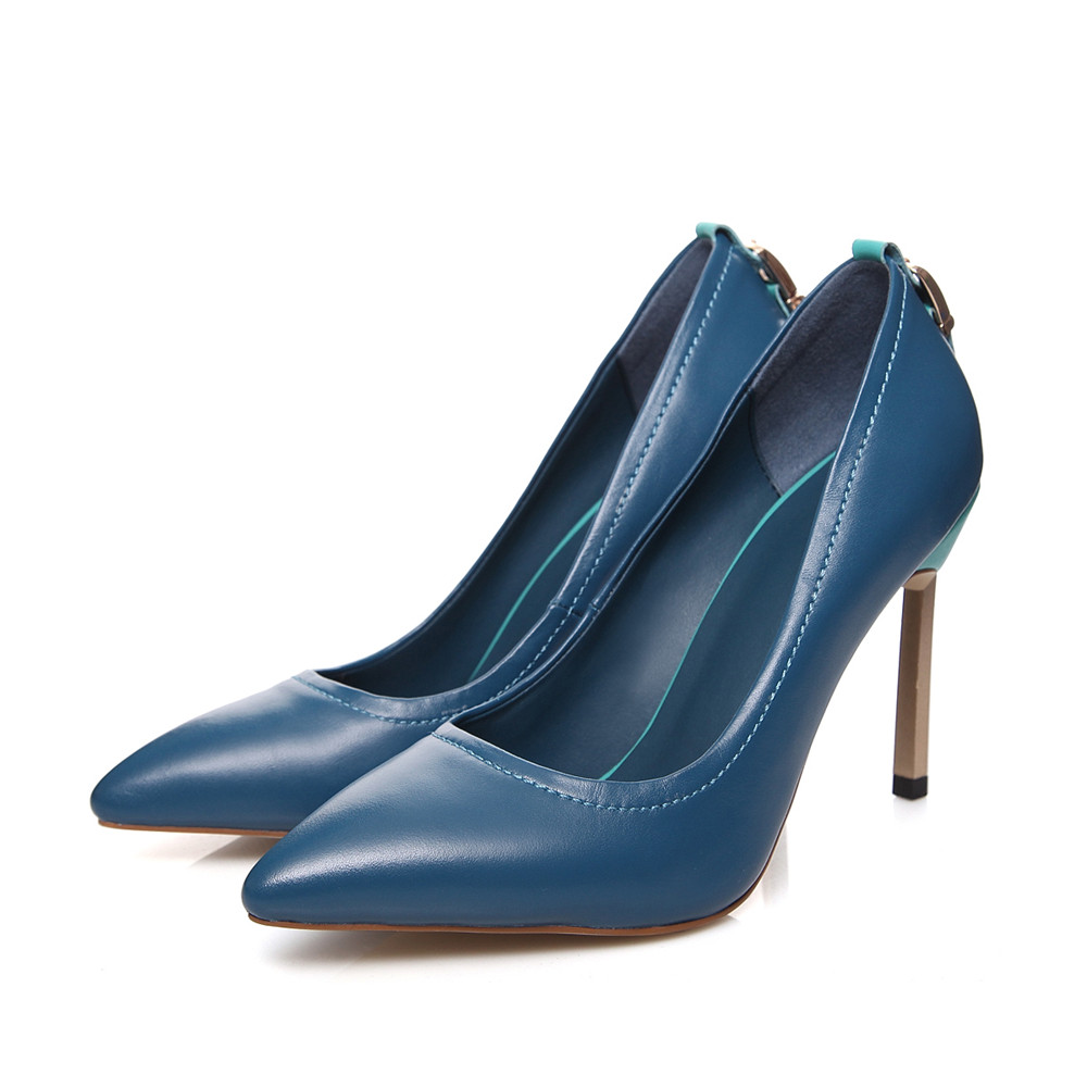 Ladies Women Donna black Black Primavera Asumer sposa Shoes a Blue Heels Punta da punta High Elegant Blue Thin Fashion Autunno ngSqA4X