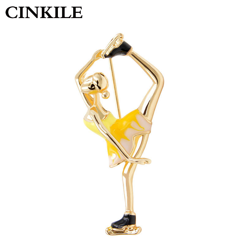 CINKILE Skating Women prossid Cute Enamel Pin Unisex märgid Backpack Broches Mantel Pins Bijouterie Party Aksessuaarid Uus
