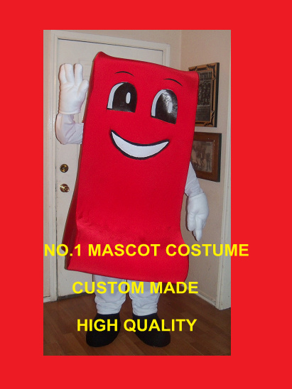 1 piece red ribbon boy/girl mascot costume adult red ribbon theme advertising carnival mascotte fancy dress suit kits 1719