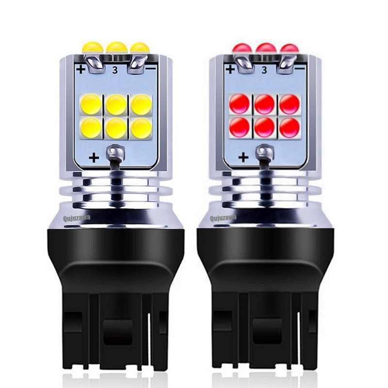 2Pcs NEW T20 7440 W21W WY21W Super Bright 1800Lm CREE Chips LED Auto Turn Signal Reverse Lamp Brake Bulb Daytime Running Lights