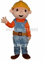 BOB THE BUILDER ADULT FANCY DRESS MASCOT COSTUME free shipping cosplay costumes for Halloween party