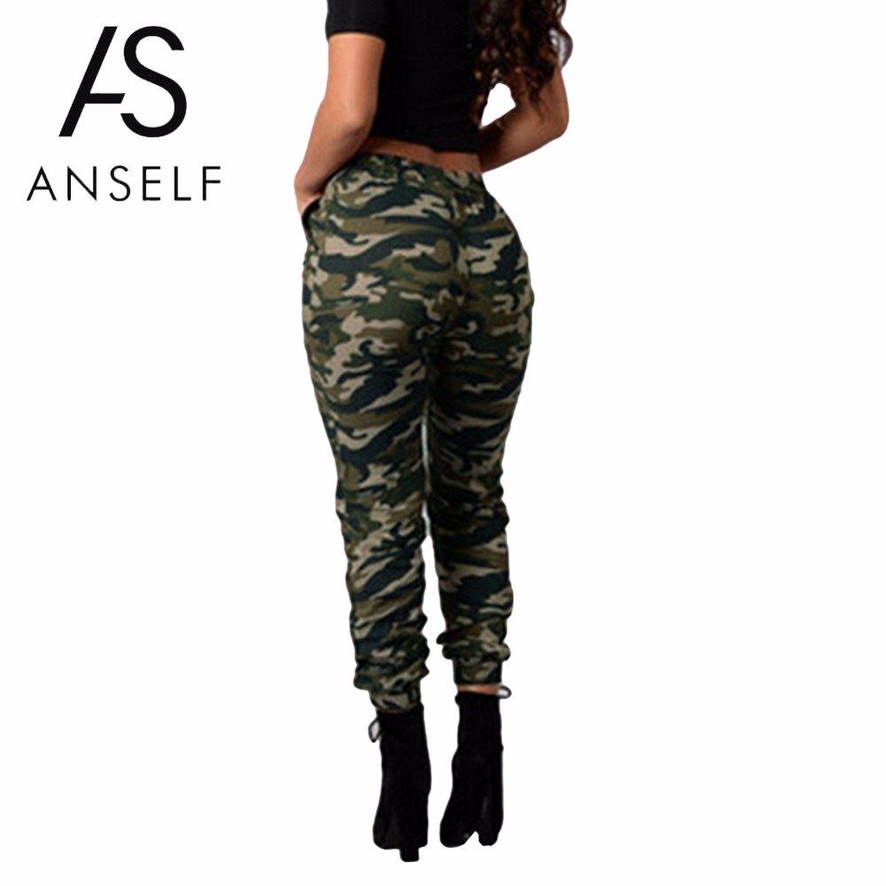 2020 hot-seeling original price remains stable US $10.86 35% OFF|3XL 4XL 5XL Plus Size Camouflage Pants Joggers Women  Sweatpants Print Elastic Waist Casual Oversized Camo Trousers female  Green-in ...
