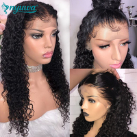 13x6 Lace Front Human Hair Wigs Pre Plucked With Baby Hair 150% Density Curly Lace Front Wig For Women Brazilian Remy Hair NYUWA