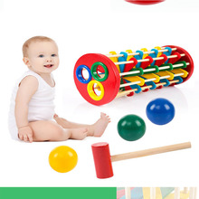 Baby Colorful Wooden Beat Toys with Hammer Kids Preschool Multifunctional Tool Maintenance Childrens Educational