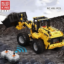 MOULD KING legoing city Technic RC Track Building Blocks Electric Motor RC Engineering Excavator Bricks Playmobile moc brinquedo