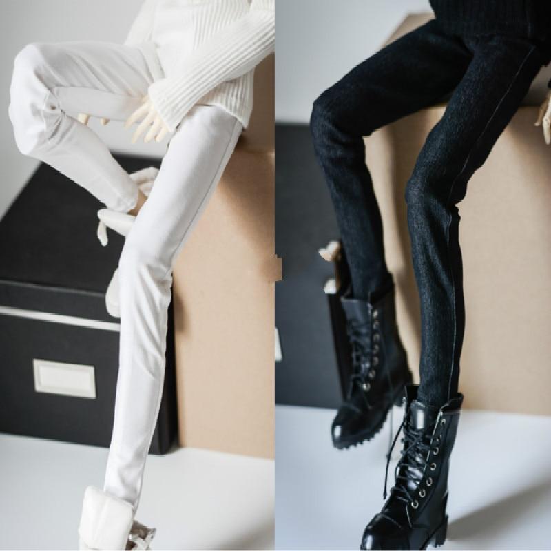 1/3 1/4 BJD pants  bjd jeans Ava A199 feet stretch denim trousers 2 colors sokotoo men s colored painted snake 3d print jeans fashion black slim stretch denim pants