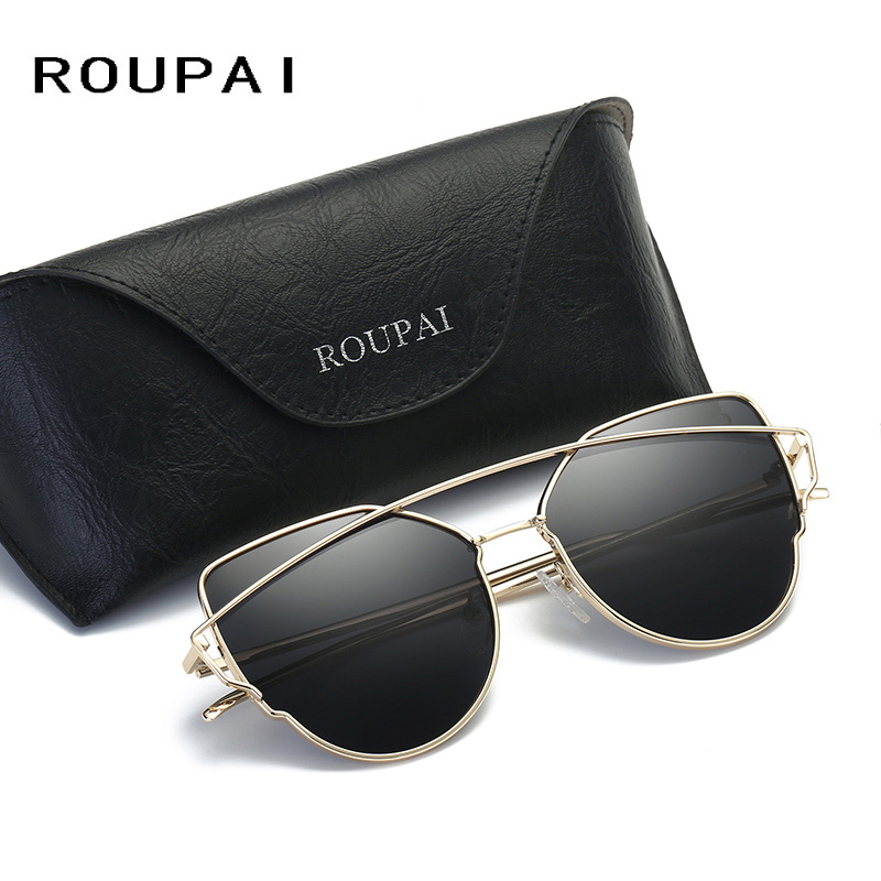 ROUPAI Fashion womens polarized sunglasses fashion street shot glasses