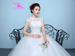 AIJINGYU 2018 elegant free shipping new hot selling cheap ball gown lace up back formal bride dresses wedding dress WK136 5