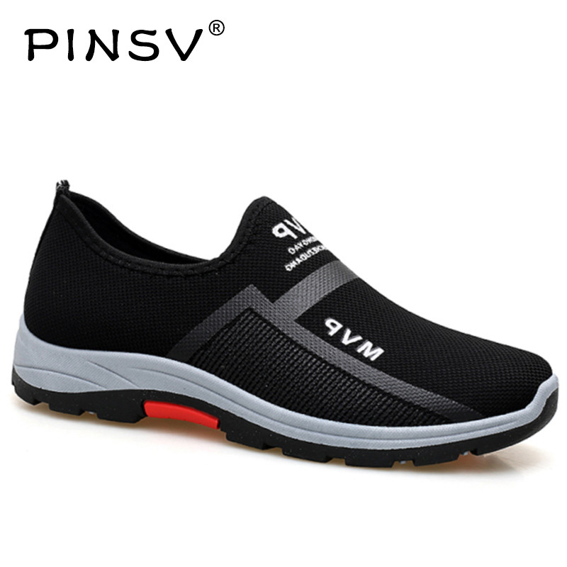 Spring Sneakers Men Casual Shoes Air Mesh Shoes For Men Loafers Black Fashion Sneakers Mens Trainers Sapato Masculino PINSV tênis masculino lançamento 2019