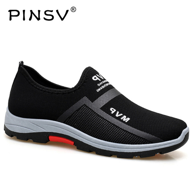 Lente Sneakers Mannen Casual Schoenen Air Mesh Schoenen Voor Mannen Loafers Black Fashion Sneakers Heren Trainers Sapato Masculino PINSV