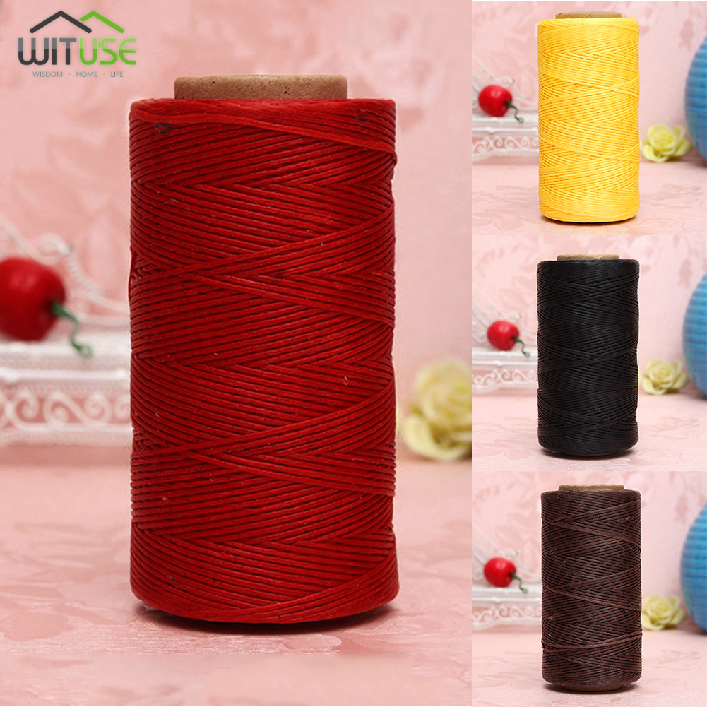 8pc High Quality 1.0mm 260 meters Long Flat Waxed Thread Waxed String for Leather Sewing