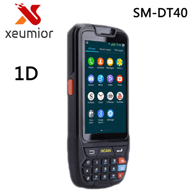 2GB RAM Rugged PDA Android Portable Data Terminal with 1D Laser Barcode Reader + 800W Camera SM-DT40