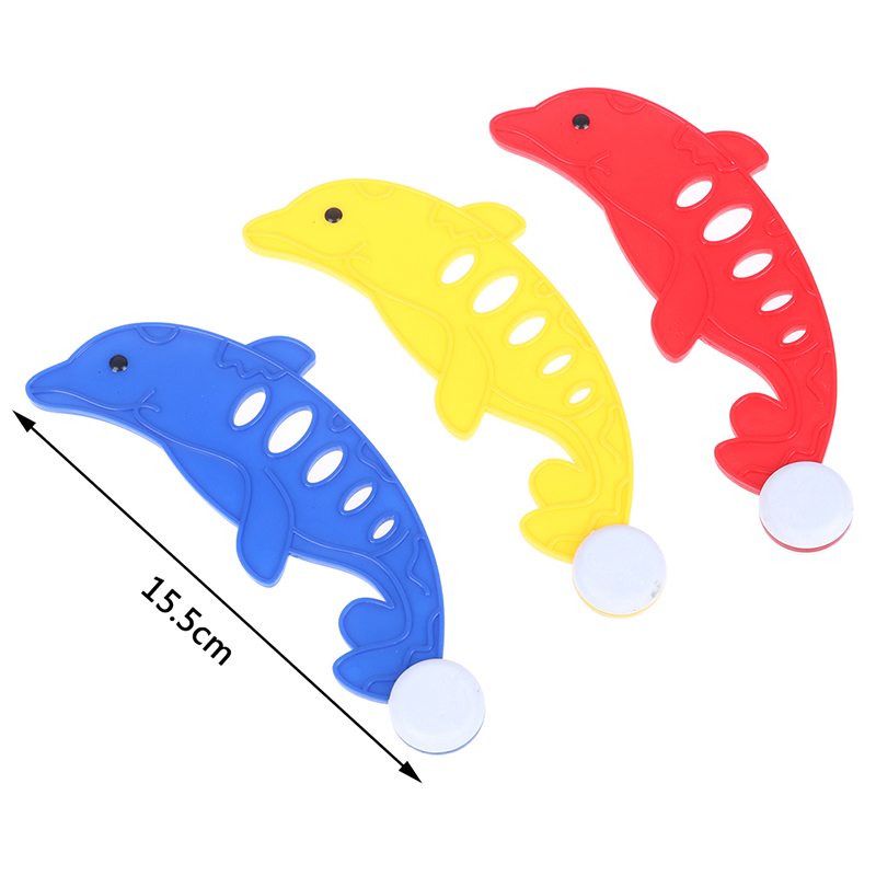 3Pcs/Set Diving Dolphins Fish & Balls,Underwater Swim Pool Diving Toys Summer Swimming Dive Toy Sets Water Rings