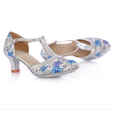New Arrival Women Ladies Floral Latin Tango Salsa Ballroom Modern Dance Shoes  Heels 5cm 7cm aaad51e37dfe