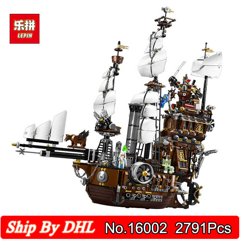 Lepin 16002 Pirates of the Caribbean Ship MetalBeards Sea Cow Model 2791Pcs Building Block Assembling Toys Legoinglys Bricks